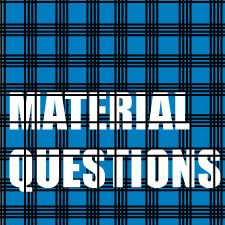 Vol XXIX, Material Questions